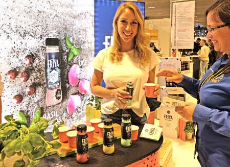 Expo Area Friya - Snacking Drinks aus Österreich mit dabei.Foto: Diether v. Goddenthow